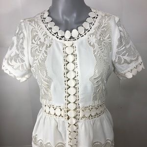 Lacy women's dress ivory coloured size Small?